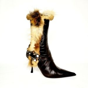 Gianmarco Lorenzi Brown Calfskin Leather Boots